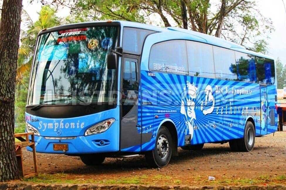 Sewa Bus Pariwisata Symphonie Harga Paling Murah Fasilitas Lengkap