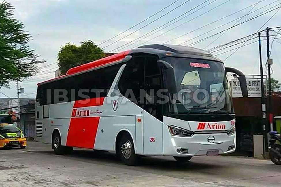 ibistrans.com harga bus pariwisata Arion