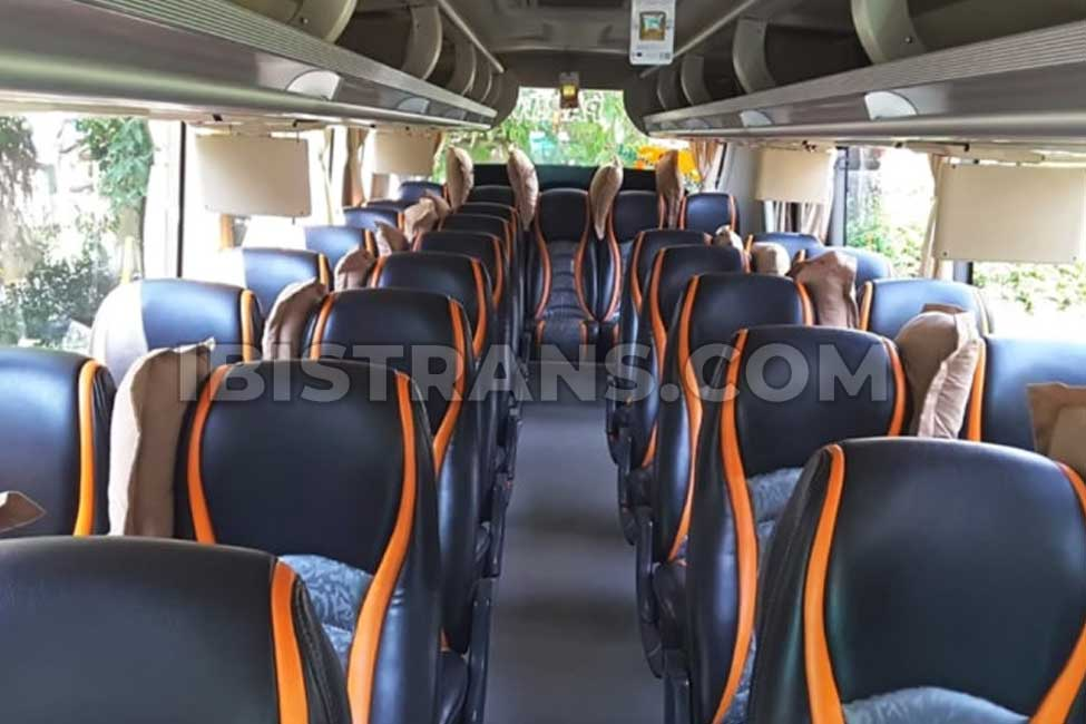 ibistrans.com interior sewa bus pariwisata Horizon Transport