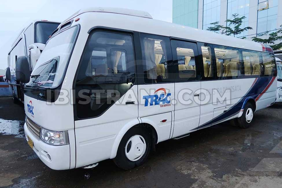 ibistrans.com sewa bus pariwisata trac coaster