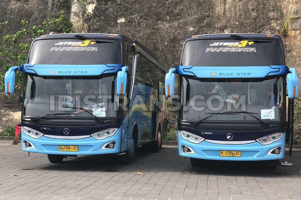 ibistrans.com harga bus pariwisata Blue Star Wilayah Jakarta dan sekitarnya