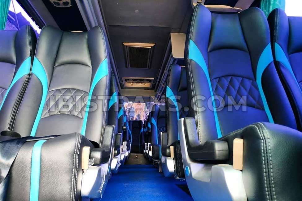 foto interior bus pariwisata piknik bus medium