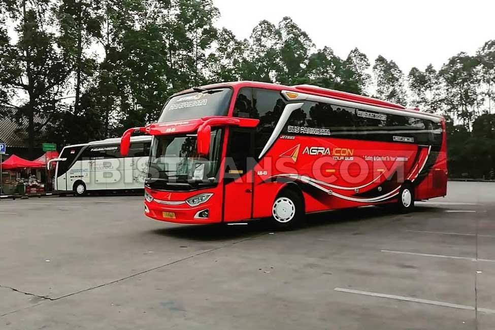 ibistrans.com gambar bus pariwisata agra icon jetbus series